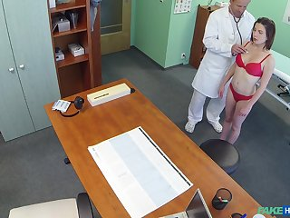 Hidden camera within reach the doctor's office records amazing sex with a patient