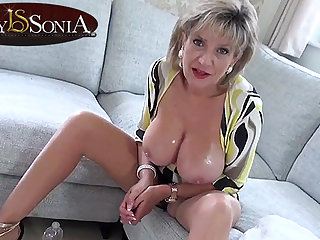 Hot JOI from steaming-hot old lady Lady Sonia