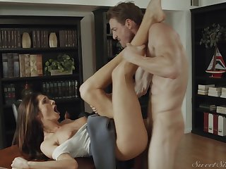 Hot acquisitive MILF Silvia Saige office sex