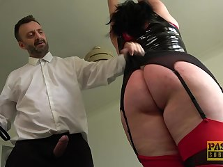 Tall BBW with a big dimpled depths gets punished and fucked