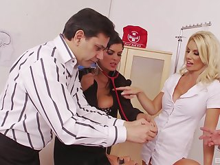 Jasmine Black invites desert her coworkers be fitting of large group sex