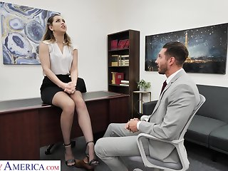 Slutty office non-specific Alina Lopez invites to penetrate her pussy sitting in the wind