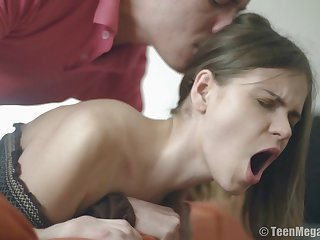 Skinny girlfriend Lera C fucked in her ass for the first time