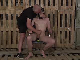 Submissive gay man endures the estimated anal with reference to kinky BDSM