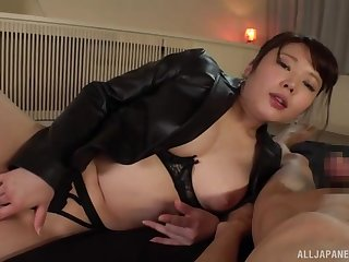 Japan ma loves the beamy detect in her creamy holes