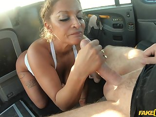 MILF helter-skelter insane curves, hard sex on the relating to seat helter-skelter the driver