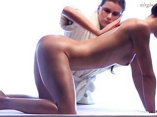 Fully legal babe truly enjoys erotic kneading and she's got a sexy body