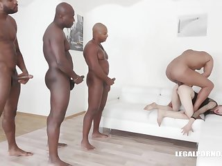 Ciara Riviera is trying an interracial DAP during a align coition session, and enjoying it a lot