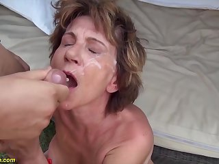 76 years old mom outdoor fucked by her make obsolete