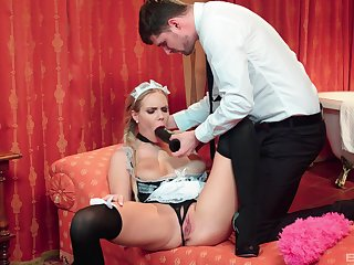 The maid is more than pleased nearby customize her master's hidden lustful needs