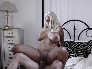 Horny boyfriend fucks his GF's mature neighbor Bridgette B.