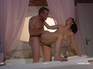 Man with steel inches fucks this first and foremost wife in crazy modes