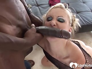 Blond Hair Girl loves the brush stepdad's obese disgraceful penis