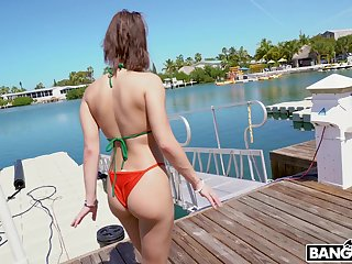 Whore with plump ass Kira Perez gives her head and gets fucked hard