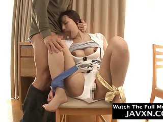 Amazing Japanese Hairy cunt Mommy Fucks Her Stepson