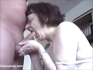 Hot granny really like to suck dick get cum heavens breast