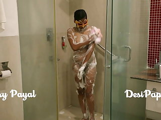 desi south indian girl young bhabhi Payal connected with bathroom